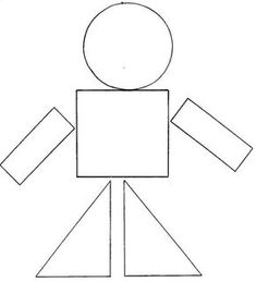 Para formar dibujos con las figuras geométricas (de la web) 4 Year Old Activities, Preschool Learning Activities, Preschool Curriculum, Preschool Printables, Preschool Worksheets, Preschool Activities, Kids Learning, Kindergarten Art Lessons, Printable Shapes