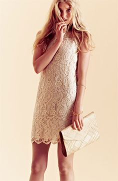 Love the off white & lace! Joie 'Vionne' Cotton Shift Dress.