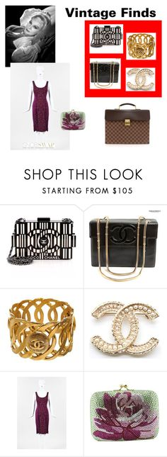 """Vintage Finds 1"" by scolab ❤ liked on Polyvore featuring Chanel, Diane Von Furstenberg, Louis Vuitton and vintage"