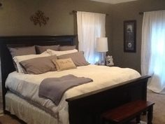 Anonymous by sherwin Williams, white/grey bedding