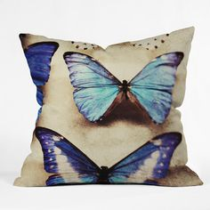 Chelsea Victoria Blue Jeans Throw Pillow | DENY Designs Home Accessories