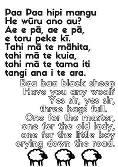 Nursery rhymes and songs - Bilingual posters in Maori and English Maori Songs, Maori Patterns, Early Childhood Centre, Primary School, Nursery Rhymes, Counseling, Kindergarten, Preschool, Therapy