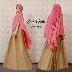 Baju Muslim Gamis Syar'i Delvita Syari Dusty-Mocca - http://warongmuslim.com/baju-muslim-gamis-syari-delvita-syari-dusty-mocca.html