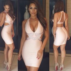 bandage dress sexy dress pink dress evening dress bodycon dress night out outfit party dress clubwear clubbing oufits celebrity style celebrities celebrity style steal herve leger celebboutique.com herjunction herjunction.com