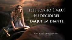 Resultado de imagem para frases do filme alice no pais das maravilhas Lewis Carroll Quotes, Alice Madness, Just Believe, Some Words, Movie Quotes, Alice In Wonderland, Quote Of The Day, Love You, Positivity