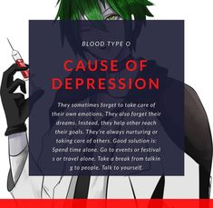 Blood Type Personality, Causes Of Depression, Take Care, Helping Others