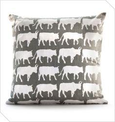 Shop South African Design   Transkei Cows Cushion   Meekel