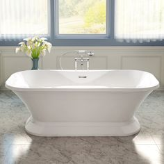 Aria Fortissimo 71 Inch Acrylic Double Ended Pedestal Bathtub