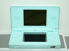 Nintendo DS Lite Ice Blue Video Game Bundle 3 Games Brain Age 5th Grade Case #Nintendo