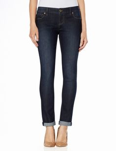 The Cuffed Skinny 678 Rolled Cuff Ankle Jeans from THELIMITED.com #CuffedSkinnyJeans #TheLimited