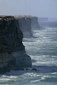 The Bunda Cliffs drop over 200 feet into the Southern Ocean - Southern Australia by catherine.c.palmer.3