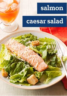 Salmon Caesar Salad – Make 4 people happy with this easy 30-minute Salmon Caesar Salad. So simple yet so delicious!