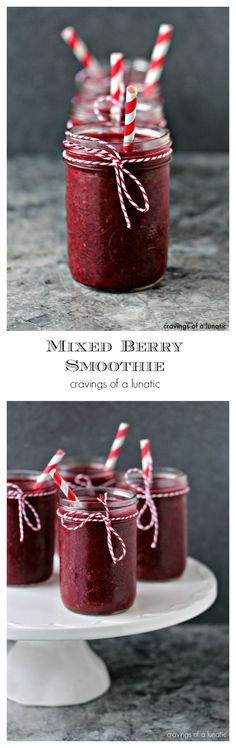 Mixed Berry Smoothie | cravingsofalunatic.com | So simple to make, this mixed berry smoothie uses just a few ingredients. Give it a quick whir in the blender and you have a healthy start to your day!