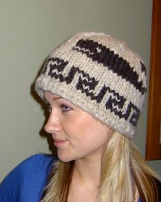 Toque Hat COWICHAN Killer Whale Canadian wool by raincoaststudio, $42.00