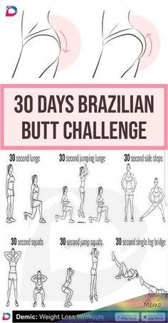 Brazilian Butt - Beauty is Art Fitness Workouts, Summer Body Workouts, Workouts For Teens, Gym Workout For Beginners, Gym Workout Tips, Fitness Workout For Women, Hip Workout, Workout Challenge, Workout Videos