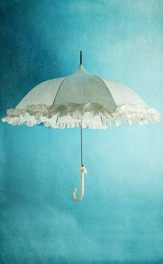 Peter Chadwick WHITE VINTAGE PARASOL Miscellaneous Objects Umbrellas Parasols, Still Life, Objects, Stock Photos, Creative, Outdoor Decor, Photography, Image, Search