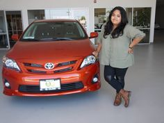 Liezel and her new Corolla!