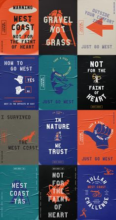 New Logo and Identity for Tasmania's West Coast by For the People Poster-Design Game Design, Graphisches Design, Logo Design, Poster Design, Graphic Design Posters, Identity Design, Flyer Design, Layout Design, Hipster Graphic Design