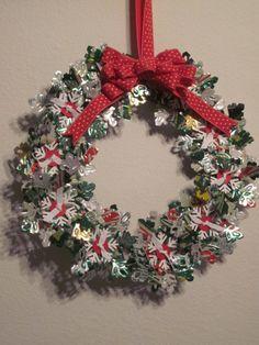 Soda Can Snowflake Wreath