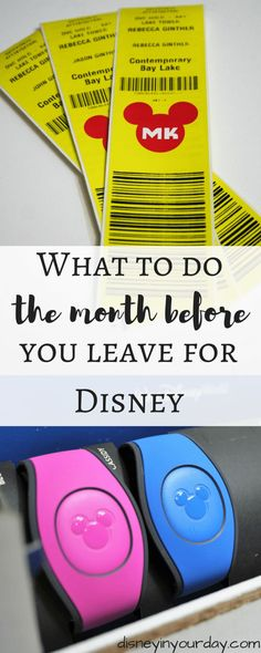 What to do the month before you leave for Disney – Disney in your Day – Disney World – Tipps Disney World Vacation Planning, Walt Disney World Vacations, Disneyland Trip, Disney Planning, Disney Destinations, Trip Planning, Orlando Vacation, Vacation Ideas, Disney World Tips And Tricks