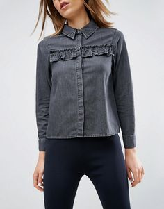 Discover the range of women's shirts and blouses with ASOS. Shop the latest tops, blouses and shirts with ASOS. Denim Shirt, Jeans, Latest Tops, Shirt Blouses, Shirts, Jean Top, Indian Designer Wear, New Outfits, Fashion Online