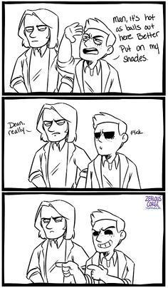 Demon!Dean shades ----- First I laughed and then I cried...