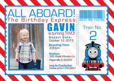 Hey, I found this really awesome Etsy listing at http://www.etsy.com/listing/163269677/birthday-thomas-the-train-invitation