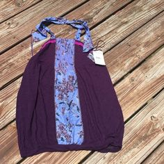 NWT Free  people deep purple top Free people deep purple size L halter top. 100% cotton new with tag. Free People Tops Tank Tops
