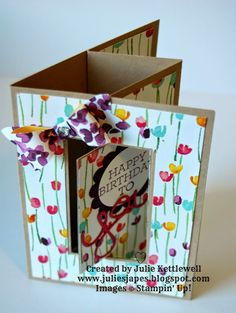 Painted Blooms Folding Card
