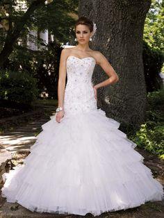 Spring Strapless wedding dress by David Tutera..