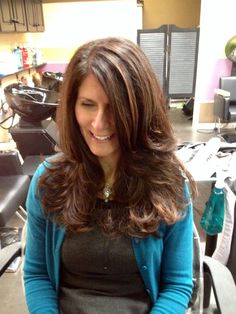 My beautiful long haircut with soft layers!