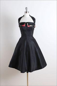 Vestido vintage años 50 vestido vintage de por millstreetvintage