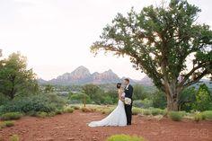 Sedona red rock views wedding photography