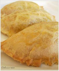 empanadas A massa e recheio de frango