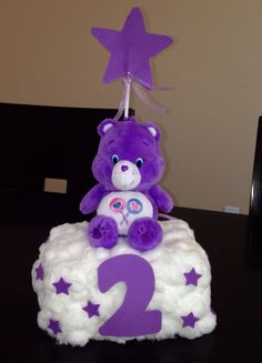 Care Bears centerpiece for 2nd birthday party  Share Bear Care bear birthday party ideas
