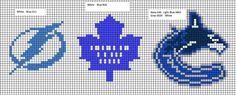 Loom Knitting Patterns, Cross Stitch Patterns, Crafty Projects, Sewing Projects, Native Beading Patterns, Nhl Logos, Diy Perler Beads, Friendship Bracelet Patterns, Brick Stitch