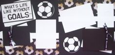 Soccer scrapbook pages