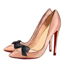 Christian Louboutin 'Love Me' pumps  Blush by LadyGatsbyLuxePaper, $10.00