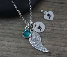 Sterling Silver  Angel Wing necklace guardian ange by LifeOfSilver