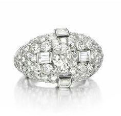 FD GALLERY | Rare & Vintage | An Diamond 'Trombino' Ring by Bulgari, circa 1935