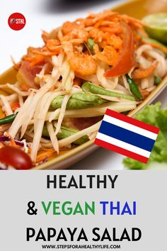 This vegan green papaya salad is a delicious light appetiser. How to make it? It's very easy to make with healthy ingredients and you can use as a healthy vegan appetiser,snack or for even a quick lunch. You don't need to have great kitchen skills and can even prepare with the help of you family members. Get this easy recipe,Enjoy!🥗 Vegan food,vegan lunch,vegan healthy snacks, healthy lunch to go,healthy salad recipes,vegetarian salads,vegetarian recipes,VEGAN LUNCH