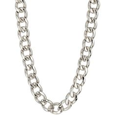 14th & Union Chunky Link Necklace ($30) ❤ liked on Polyvore featuring jewelry, necklaces, chain, silver, chunky jewelry, silver necklace, silver jewellery, silver jewelry and chunky chain link necklace