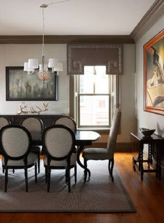 seren, sophisticated dining room