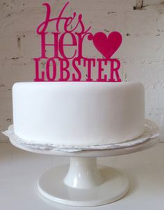 he's her lobster wedding cake topper http://youtu.be/GaobclFwvUU