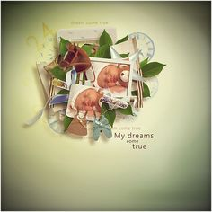 Value Pack: Dreams My Dream Came True, Digital Scrapbooking Layouts, Girls Boutique, Embellishments, Place Cards, Bee, Xmas, Packing, Place Card Holders
