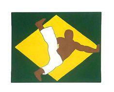 Capoeira Art, Martial Arts Decor for Boys, Brazilian Art, Capoeira Gift, Folk Art Painting, Teen Boy Room Decor, Studio Decor, Batizado Gift