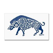 Knotwork Boar, Blue Decal