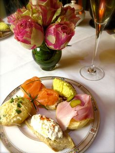 Tea sandwiches at the Dorchester Hotel's Afternoon Tea