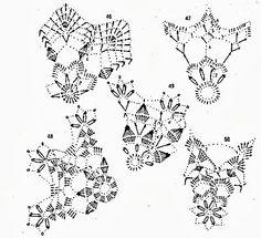 snowflakes crochet 110 schema