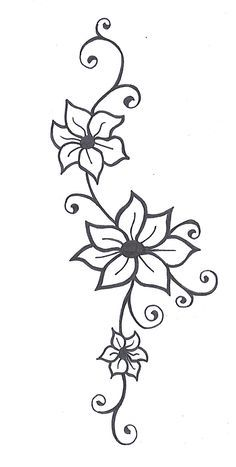 Cool And Easy Flowers To Draw Simple Flower Designs